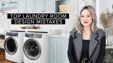 COMMON DESIGN MISTAKES | Laundry Room Mistakes and How to Fix Them | Julie Khuu